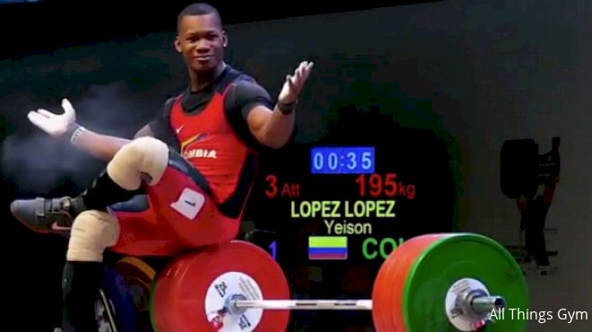 Yeison Lopez Crushes 2017 IWF Junior Worlds Takes Gold 18kg Ahead Of Second