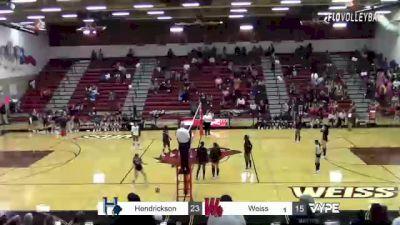 Replay: Hendrickson vs Weiss | Oct 19 @ 7 PM