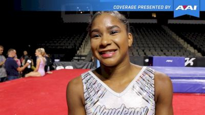 Jordan Chiles On Returning To Competition & Upgrades - 2017 U.S. Classic Podium Training