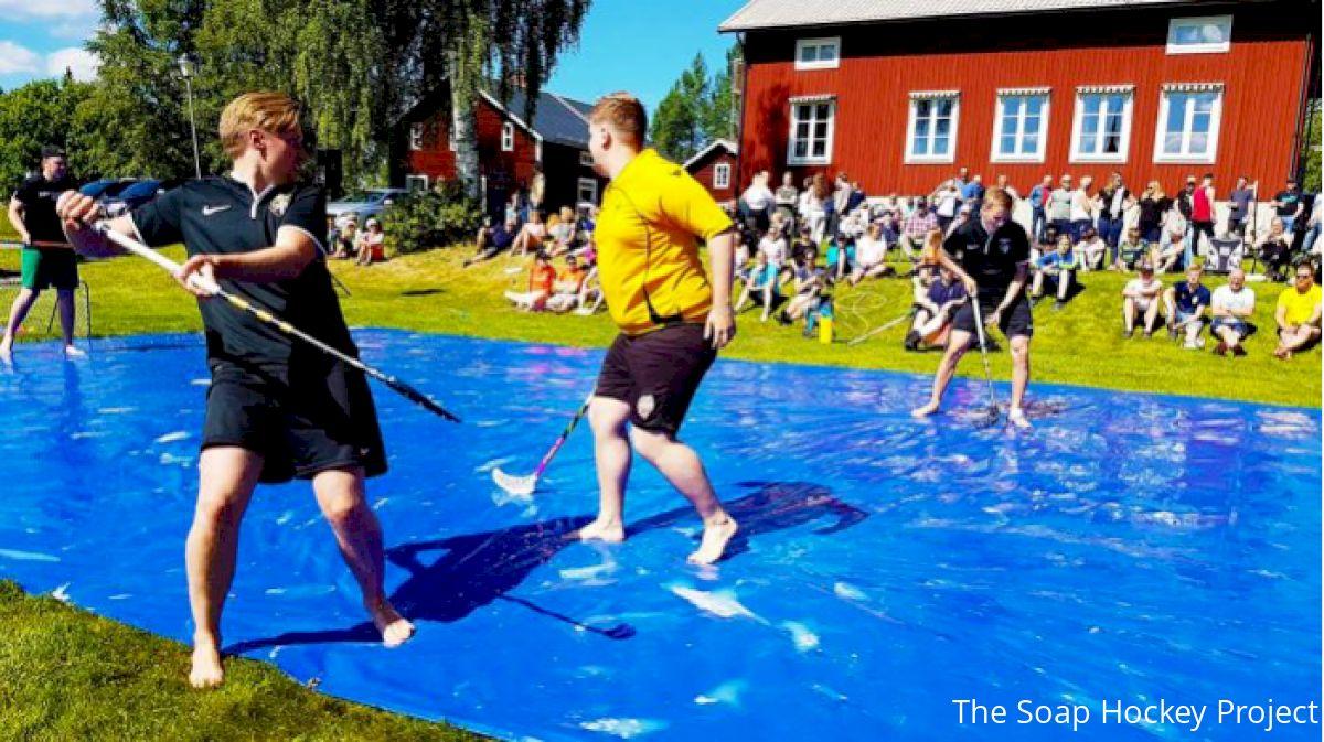 'Soap Hockey' Offers Slippery Alternative To Backyard Pickup Games