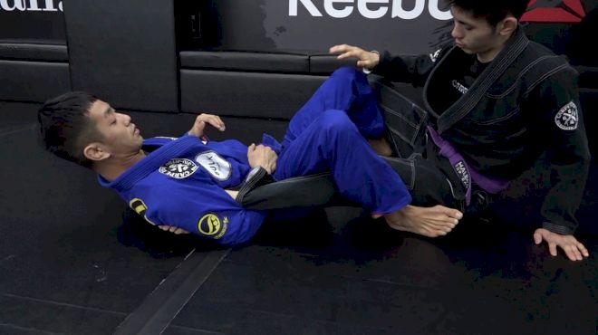 Japanese Champ Tomoyuki Hashimoto Shows The Footlock From De La Riva Guard