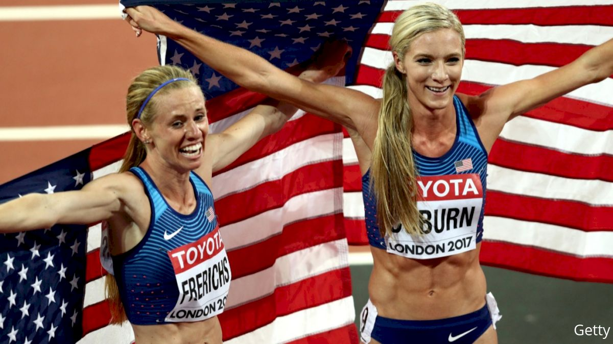 Emma Coburn, Courtney Frerichs Sweep Medals In Historic Steeplechase Final