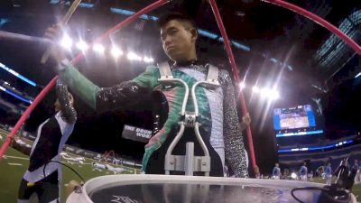 Up Close And Personal With Blue Knights Tyler Doan During His Finals Drum Solo
