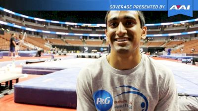 Akash Modi On Pommel Horse Improvements & Competing With Friends - 2017 P&G Championships Men Day 1