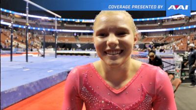 Jade Carey On First P&Gs, Winning Vault, & Training Double Double Layout! - 2017 P&G Championships Women Day 2