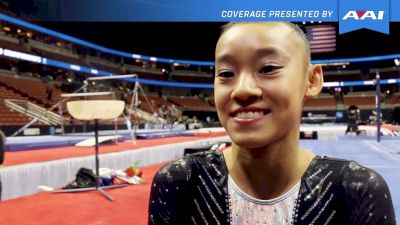 Leanne Wong On Competing Level 10 In May & Now Making The Junior National Team - 2017 P&G Championships Women Day 2