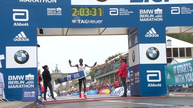 Weather Impedes WR Attempt But Eliud Kipchoge Proves Indomitable In Berlin