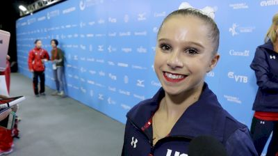 Ragan Smith On Words Of Encouragement From Aly Raisman Before The Meet & Looking Forward To Redemption On UB & BB - Qualifications