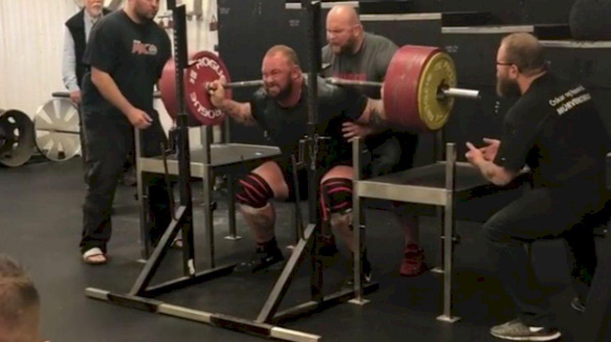 Hafthor Bjornsson Squats 400kg/881lb For A Double In Wraps