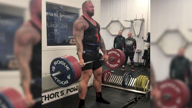 Thor Follows Up His Insane Squats With A Beautiful 400kg/881lb Deadlift