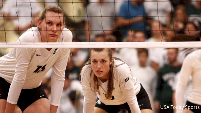 picture of Michigan State at Northwestern   2017 NCAA Women's Volleyball