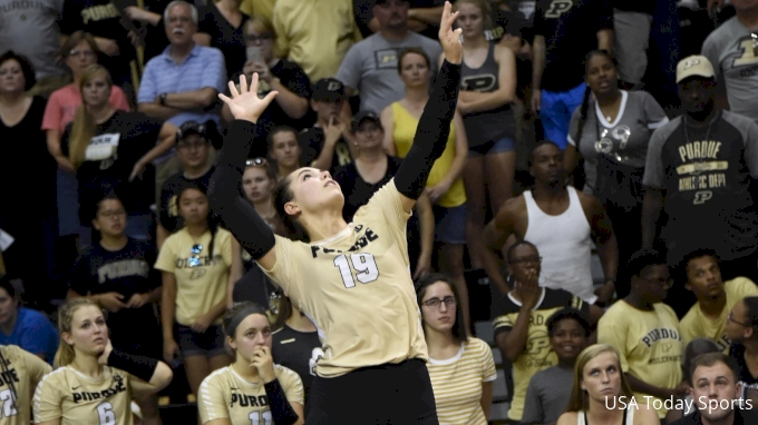 picture of Purdue at Iowa   2017 NCAA Women's Volleyball