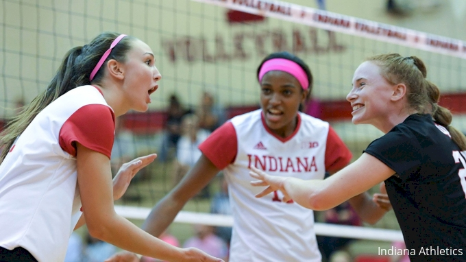 picture of Indiana at Iowa | 2017 NCAA Women's Volleyball