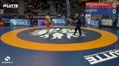 74 kg Quarterfinal - Kyle Dake, USA vs Mitchell Finesilver, Israel