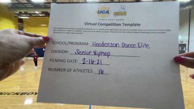 Henderson Dance [Senior - Hip Hop] 2021 UDA West Spring Virtual Dance Challenge