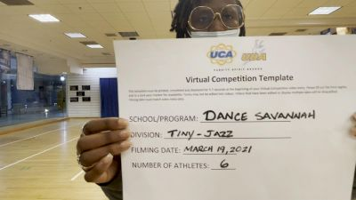Dance Savannah Busy Bees [Tiny - Jazz] 2021 UCA & UDA March Virtual Challenge