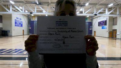 University of Mount Union [Open Pom Virtual Finals] 2021 UCA & UDA College Cheerleading & Dance Team National Championship