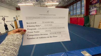 Colorado Lightning Athletics - Onyx [All Star Senior - Pom - Small] Varsity All Star Virtual Competition Series: Event VII