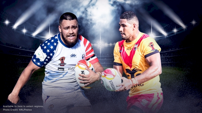 picture of PNG vs USA | 2017 Rugby League World Cup