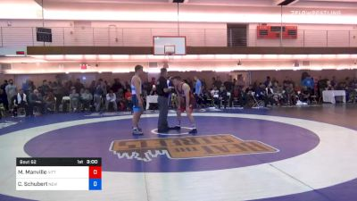 77 kg Prelims - Mason Manville, Nittany Lion Wrestling Club vs Colin Schubert, New York Athletic Club