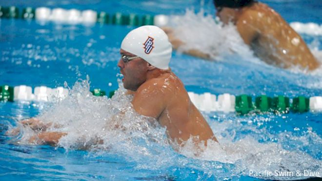 A3 Invite Psych Sheet | FPU's 52/1:54 Breaststroker Shcherbakov Leads Way