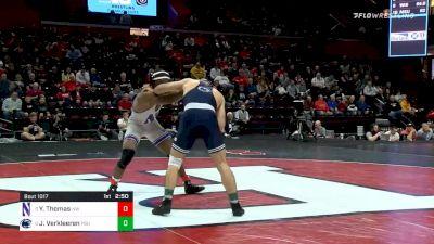 149 lbs Semifinal - Yahya Thomas, Northwestern vs Jarod Verkleeren, Penn State
