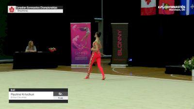 Pauline Krivchun - Ball, British Columbia - 2019 Canadian Gymnastics Championships - Rhythmic