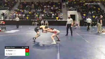 125 lbs Quarterfinal - Bradley Rosen, North Central College vs Brady Kyner, Wartburg College