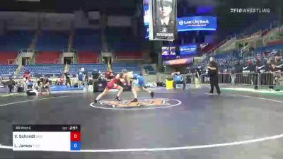 63 kg Rr Rnd 4 - Van Schmidt, MWC Wrestling Academy vs Logan James, Iowa