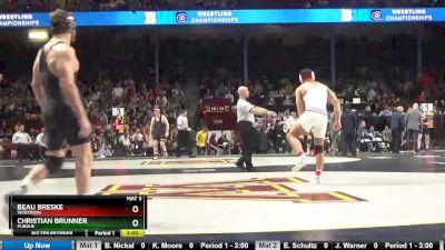197 5th, Beau Breske, Wisconsin vs Christian Brunner, Purdue