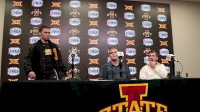 Spencer Lee, Nelson Brands, Tom Brands After ISU Wins