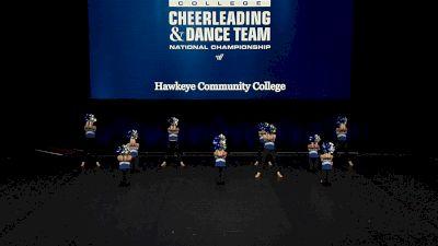 Hawkeye Community College [2021 Open Pom Finals] 2021 UCA & UDA College Cheerleading & Dance Team National Championship