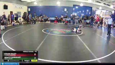 70 lbs Round 1 - Benito Barnhart, Naples Bears vs Ethan Raley, Florida Scorpions