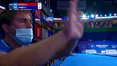 87 kg Semifinal - Tansel Can Ortucu, TUR vs Adlan Amriev, RUS