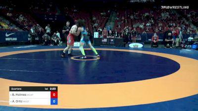 77 kg Quarters - Britton Holmes, Army (WCAP) vs Alec Ortiz, Minnesota Storm