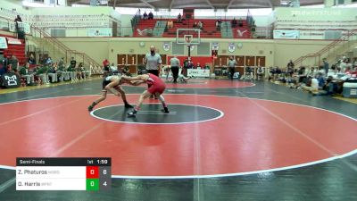 120 lbs Semifinal - Zander Phaturos, Waynesburg vs Devon Harris, Williamsport