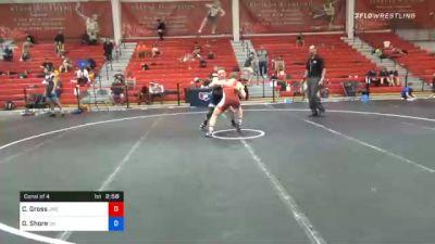 63 kg Consolation - Caleb Gross, Jackrabbit Wrestling Club vs Graham Shore, Ohio