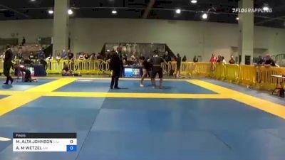 MAYLEAN ALTA JOHNSON vs ANGELICA M WETZEL 2021 American National IBJJF Jiu-Jitsu Championship