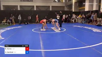 61 kg Quarterfinal - Benjamin Alanis, Thorobred Wrestling Club vs Derrick Cardinal, Forest Lake Wrestling Club