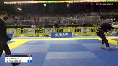 MICHAEL J. MCINALLY vs NORMAN PAUL MERRITT 2021 Pan Jiu-Jitsu IBJJF Championship