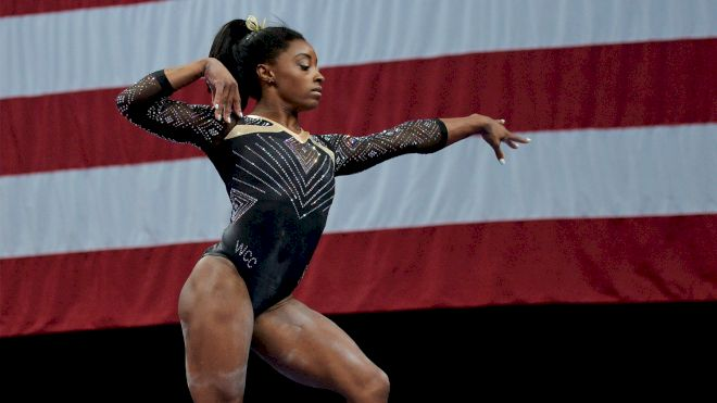 Simone Biles Finishes On Top On Day 1 Of 2018 U.S. Gymnastics Championships