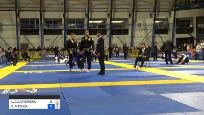 LIWIA GLUCHOWSKA vs GEZARY MATUDA KUBIS BANDEIRA 2019 World Jiu-Jitsu IBJJF Championship