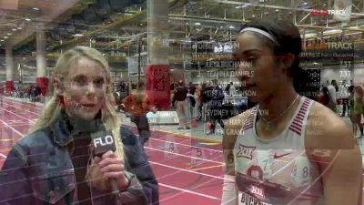 Oklahoma senior Leya Buchanan wins her first Big 12 title in 60m