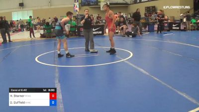 60 kg Consi Of 8 #2 - Hunter Starner, Pennisula Wrestling Association vs Dalton Duffield, NYAC/NMU