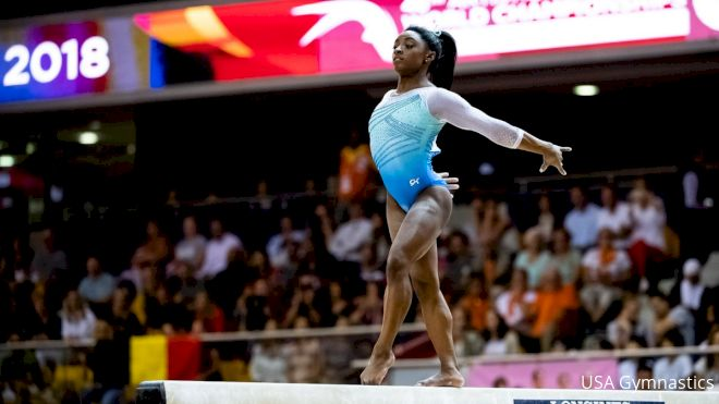 Biles Easily Wins 2019 Debut At Stuttgart World Cup