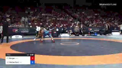 70 kg 3rd Place - Tyler Berger, TMWC / California RTC vs Zain Retherford, TMWC / Nittany Lion Wrestling Club