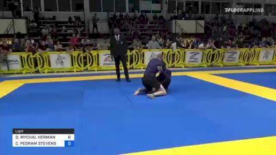 DUSTIN MYCHAL HERMAN vs COREY PEDRAM STEVENSON 2021 Pan IBJJF Jiu-Jitsu No-Gi Championship