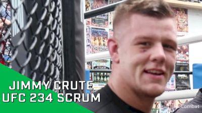 UFC 234 Video: Jimmy Crute Scrum