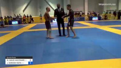 MICHAEL DAVID KACZMAREK vs JEFF GORDON MATA 2021 American National IBJJF Jiu-Jitsu Championship