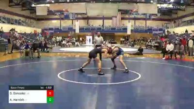 132 lbs Semifinal - Griffin Gonzalez, Lebanon vs Arik Harnish, Lampeter Strasburg